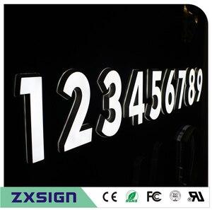 Signalisation 3d led acrylique, petit lettres led pour slogan décoratif de mur de plume, panneaux publicitaires de logo d'entreprise acrylique(China)