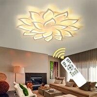 Современные светодио дный люстры для Гостиная Спальня Обеденная белый закончил люстра огни дома светильники AC110V AC220V