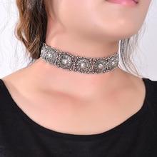 2016 hot boho collar choker declaración collar de la joyería de plata para las mujeres de moda de estilo étnico de la vendimia de bohemia de la turquesa del grano cuello