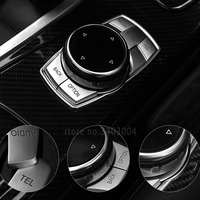 High Quality ABS Chrome Buttons Trim Idrive Decorative Cover Interior Sticker For BMW F30 F10 E60
