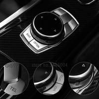 High Quality ABS Chrome Buttons Trim Idrive Decorative Cover Interior Sticker For BMW F30 F10 E60