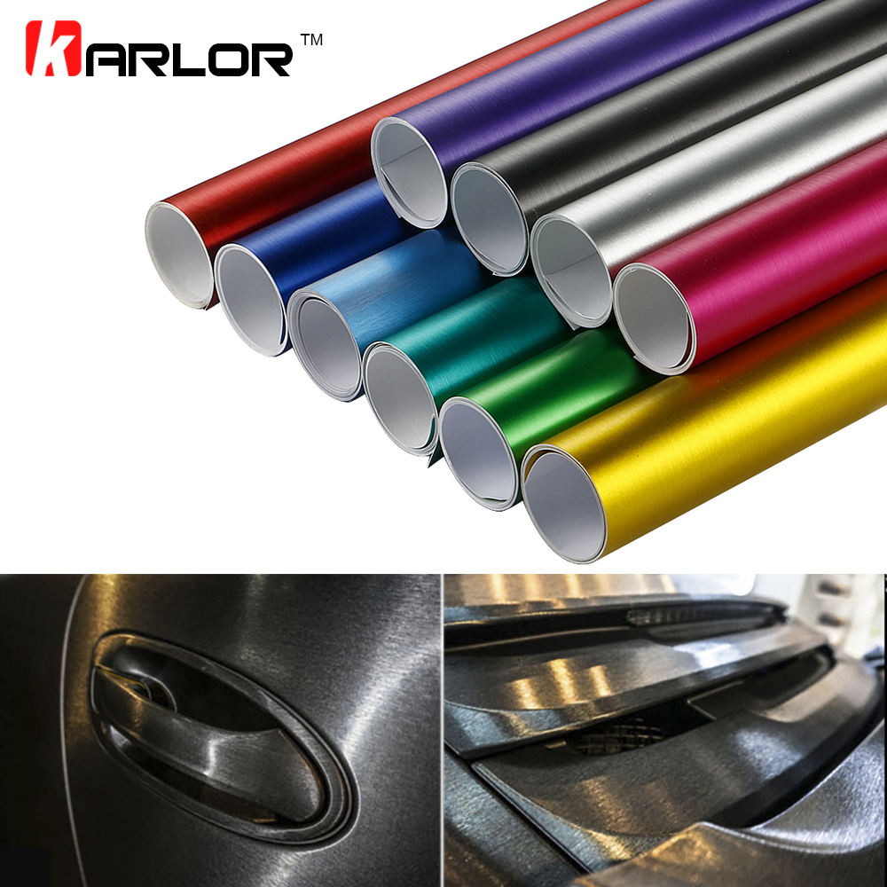 10x100cm PVC Vinyl Wrap Wire Drawing Brushed Ice Film Plating Chrome Waterproof Motocycle Automobiles Stickers Decal Car Styling 152cmx18m premium polymeric pvc light blue ice matte chrome vinyl film car styling wraps whole body stickers with air channel