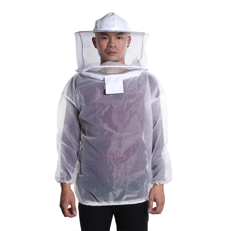 Nylon Breathable Beekeeping Clothing Anti Bee Body Protective Coat Veil Hood Hat Suit Sleeve Head Beekeeping Preventing ComfortNylon Breathable Beekeeping Clothing Anti Bee Body Protective Coat Veil Hood Hat Suit Sleeve Head Beekeeping Preventing Comfort