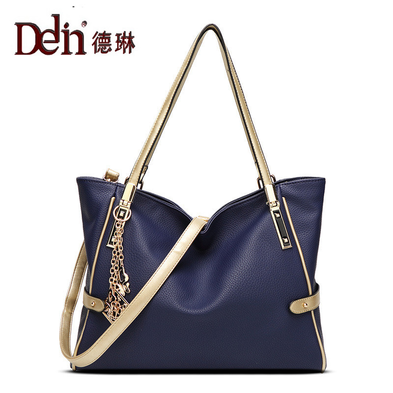 DELIN Four seasons new litchi grain female bag classic leisure bag lady hand the bill of lading shoulder inclined shoulder bag lacework four season 100 different pattern knitting book for a variety of things in the four seasons