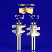 2Pcs Tongue Groove Router Bit Set 1 2 Inch Shank Wood Milling Cutter Door Knife 1129