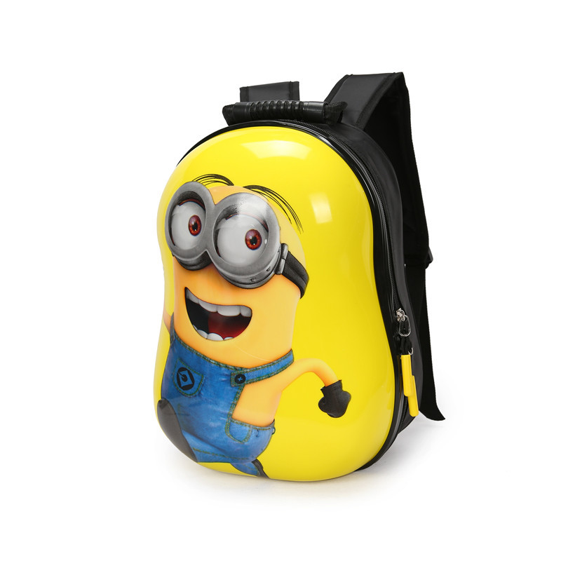 New children 3D backpack cartoon bags kids baby school bags cute yellow  people schoolbag for kindergarten boy and girls gift-in Backpacks from  Luggage ... 0ad5c2a7f0644