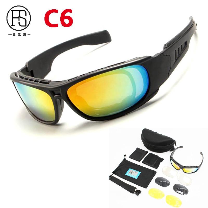 2e7cf1c7a78be9 Vente chaude Militaire lunettes de Soleil UV Protection C5 C6 Polarisées Tactique  Lunettes Hommes En Plein Air Chasse lunettes de Soleil