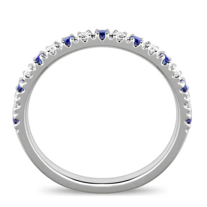 EDI Classic 18K Rose Gold 04cttw Sapphire Natural Diamond Wedding Rings For Band Women Fine Jewelry All Match Christmas Gifts In From