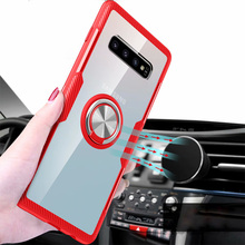 Tempered Glass Cases for Samsung Galaxy S10 Plus Case Magnetic Finger Ring Car Holder Cover S10E S9 Note 9