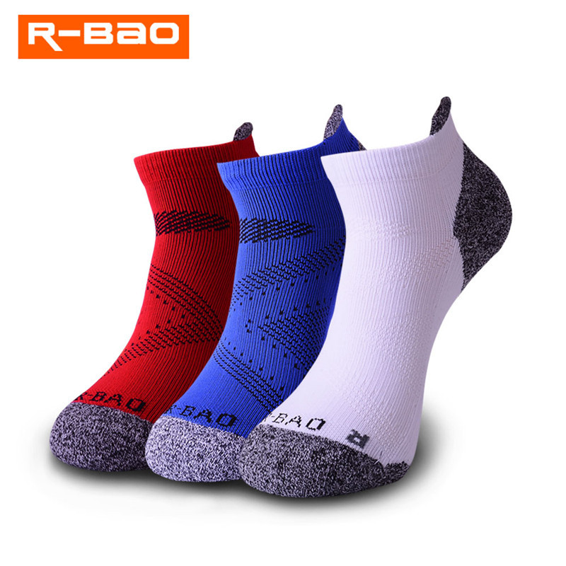 Mens low cut athletic Ankle sock Color Feathers Pattern Breathable Short Sock