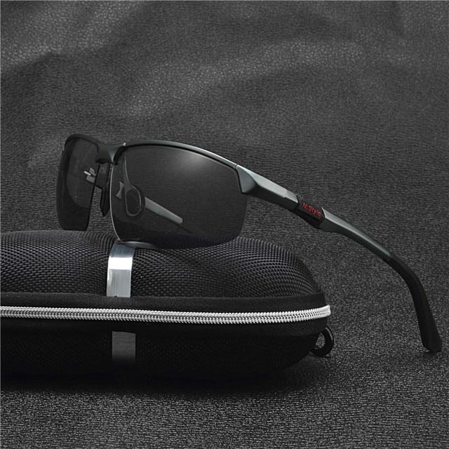 9372151791446a D origine Marque HD Verres Photochromiques lunettes de Soleil Polarisées  Hommes Conduite Jour et Nuit
