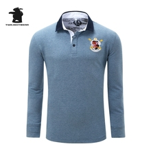 High quality men's long sleeve polo shirts designer fashion embroidery plus size casual polo shirts men pull homme CB23D056