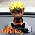 """Anime figura Bonito 4 """"Naruto Uzumaki Naruto Anime Bobble Cabeça Balançando A Cabeça Brinquedo Modelo de Carro Carro Decoração Encaixotado Ação PVC Figura Toy"""