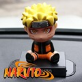 "Anime figure Cute 4"" Naruto Anime Uzumaki Naruto Bobble Head Shaking Head Toy Model Car Decoration Boxed PVC Action Figure Toy"