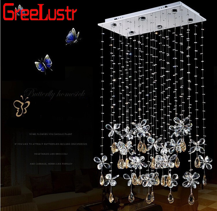 New Fashion Selling Butterfly LED Angel Crystal Pendant Lights Modern Bedroom K9 Crystal Ceiling Lamp Luxury Bedroom Droplight