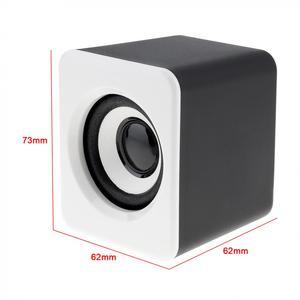Image 5 - SADA D 203 filaire Mini basse canon 3 W PC combinaison haut parleur Mobile PC haut parleur avec 3.5mm prise stéréo et USB 2.1 filaire alimenté