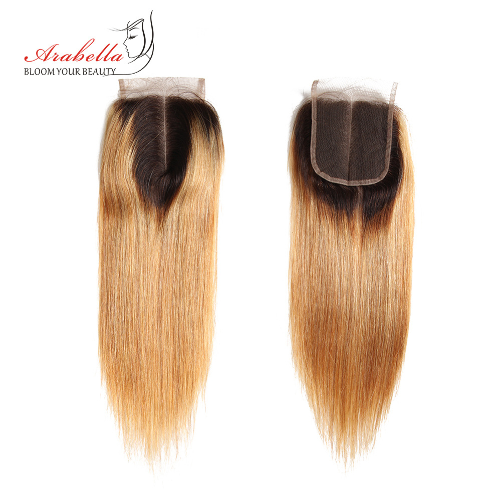 Straight Hair Bundles With Closure 1b/27 Ombre Arabella  Hair  100%  Bundles With Closure 3