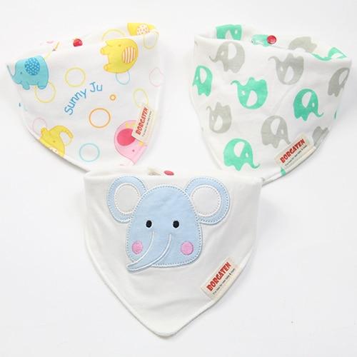 Cartoon Fashion High Quality Brand Newborn Baby Bibs Waterproof Kids Girls and Boys Cotton Triangle Children Feeding Accessories
