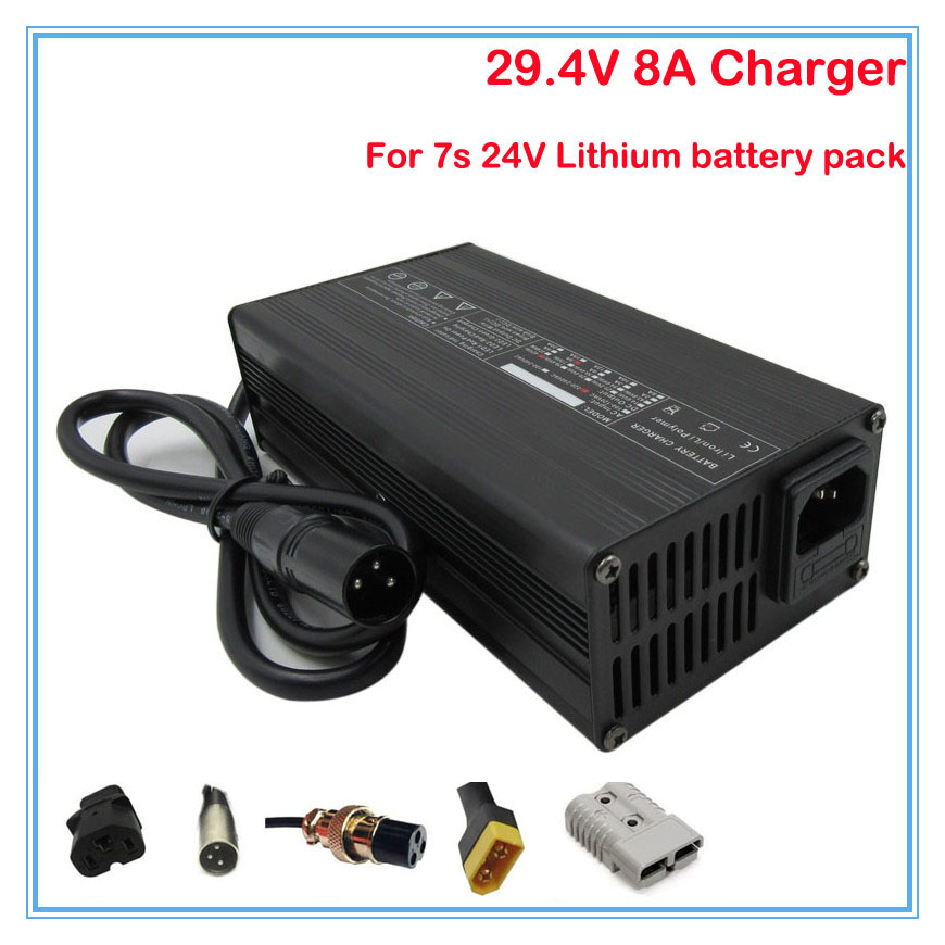 Persevering High Power 300w 24v 8a Charger 29.4v 8a Li-ion Battery Charger Input 100-120v Or 220-240v For 7s 24v Lithium Battery Pack Accessories & Parts Back To Search Resultsconsumer Electronics
