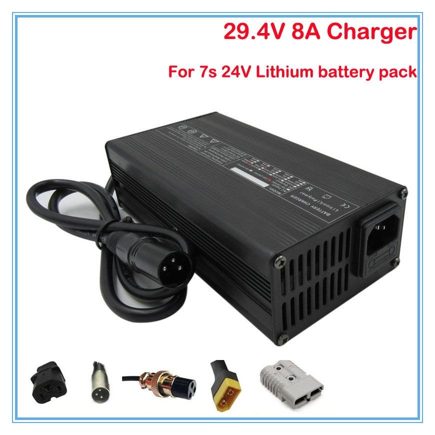 25.2V Charger Output 29.4V 3A 24V 7S Liion Battery For e-bike Hoverboard scooter