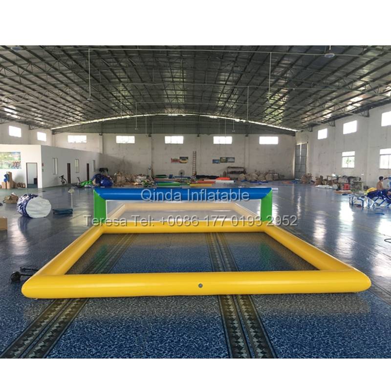Fast deliver inflatable biggors water park outdoor beach game inflatable water volleyball court water volleyball outdoor commercial grade inflatable summer backyard water game inflatable pool water slide for amusement park