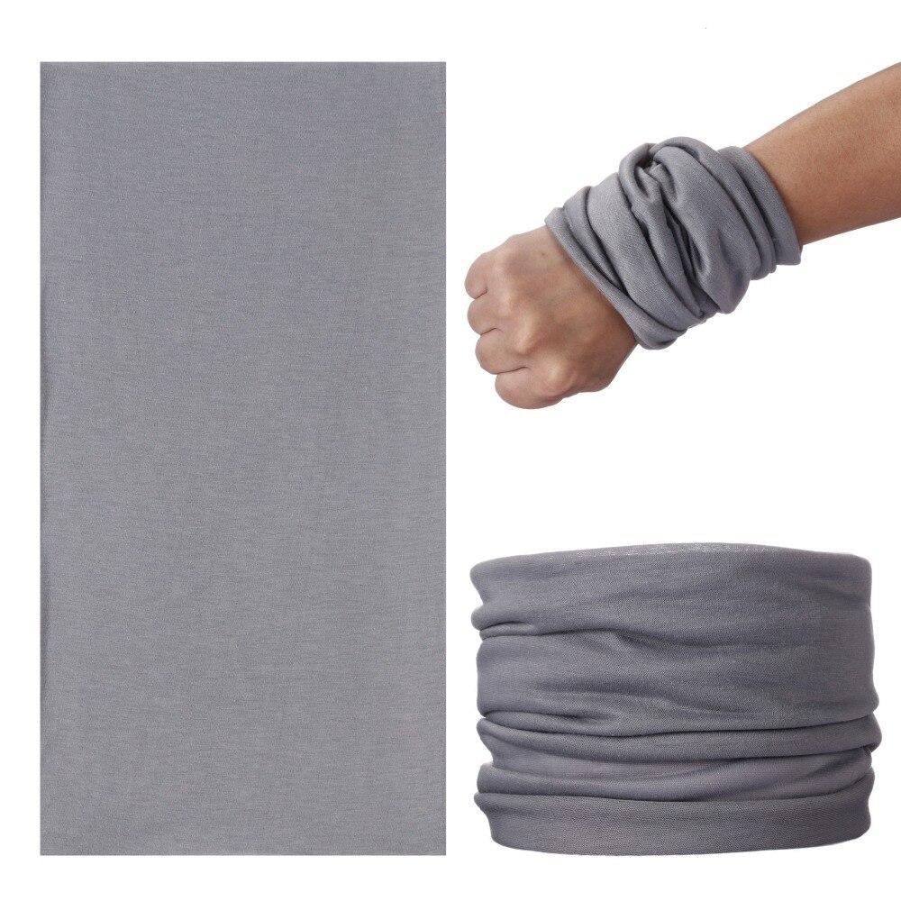 Male Seamless Bandanas Ring Scarf Foulard Moto Solid Headband Women Muslim Kaffiyeh Men Tubular Pirate Buffe Elastic Face Shield