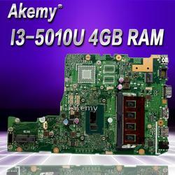 Akemy X302LA I3-5010 CPU 4GB RAM płyta główna For Asus X302L X302LA X302LJ Laptop płyta główna 90NB07I0-R00030 testowane darmowa wysyłka