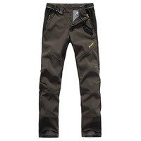 Mens Waterproof Outdoor Softshell Pants Fishing Hunting Climbing Hiking ONE SIDE BRUSH Polar Fleece