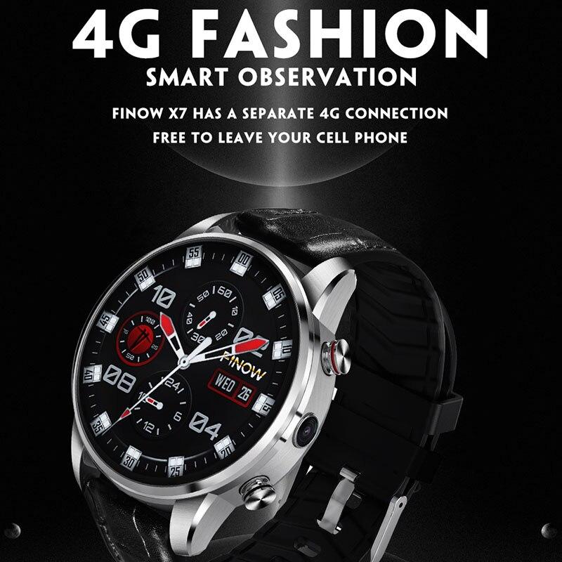 Luxury Smartwatch 4G Round Android Watch Phone MTK6739 Quad Core Smart Watch Men 1.39 Inch AMOLED Clock Vs Ticwatch KW88