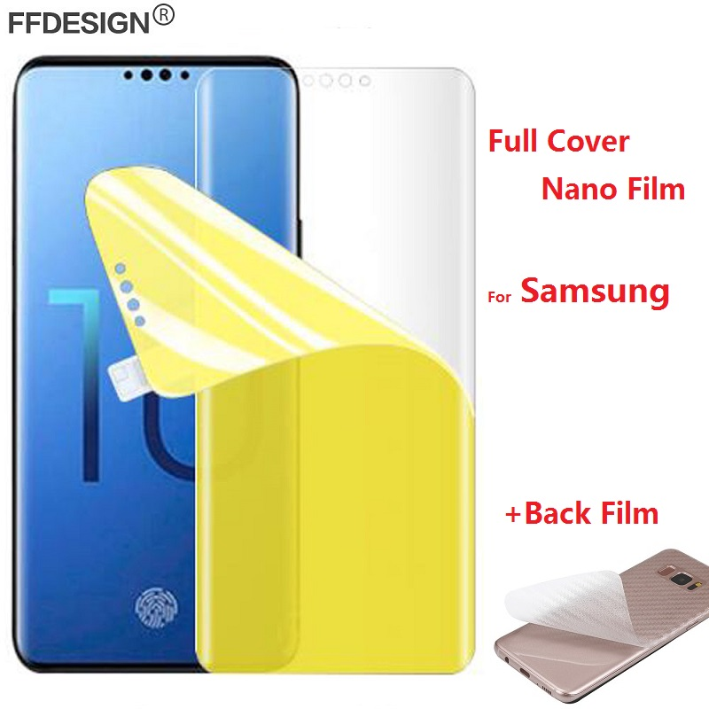 Full Glue Protective Film for Samsung Galaxy S10 Lite S8 S9 Plus S6 S7 Edge Note 8 9 Not Tempered Glass Screen Protector Foil in Phone Screen Protectors from Cellphones Telecommunications