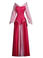 2016 Adult Custom Made Princess Aurora Cosplay Sleeping Beauty Costume Dress Christmas Party Halloween Costumes
