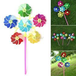 Ветряная мельница детей игрушки Glow 6 колес двор украшения сада красочные открытый Spinner G06 Прямая поставка