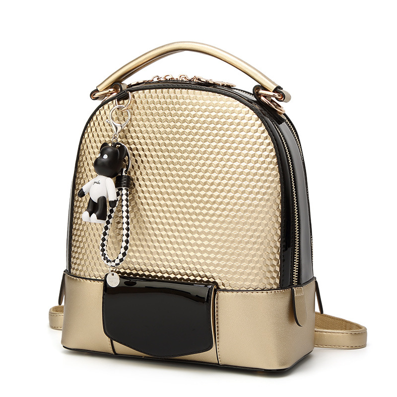2018 New Womens Pure color bead double Shoulders Bag ,Japan Fashion backpack,Preppy Style Stereoscopic design backpack