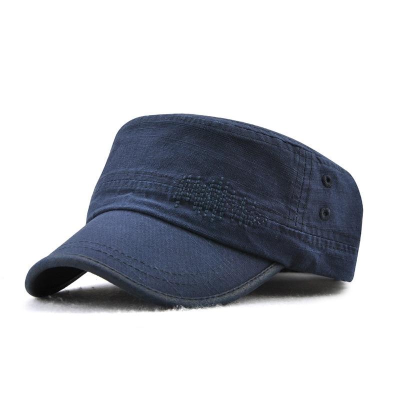 Kopfbedeckungen Für Herren WohltäTig Korean Fashion Frauen Und Männer Flache Kappe Baumwolle Einfassung Klassische Mode Outdoor Military Cap K13605