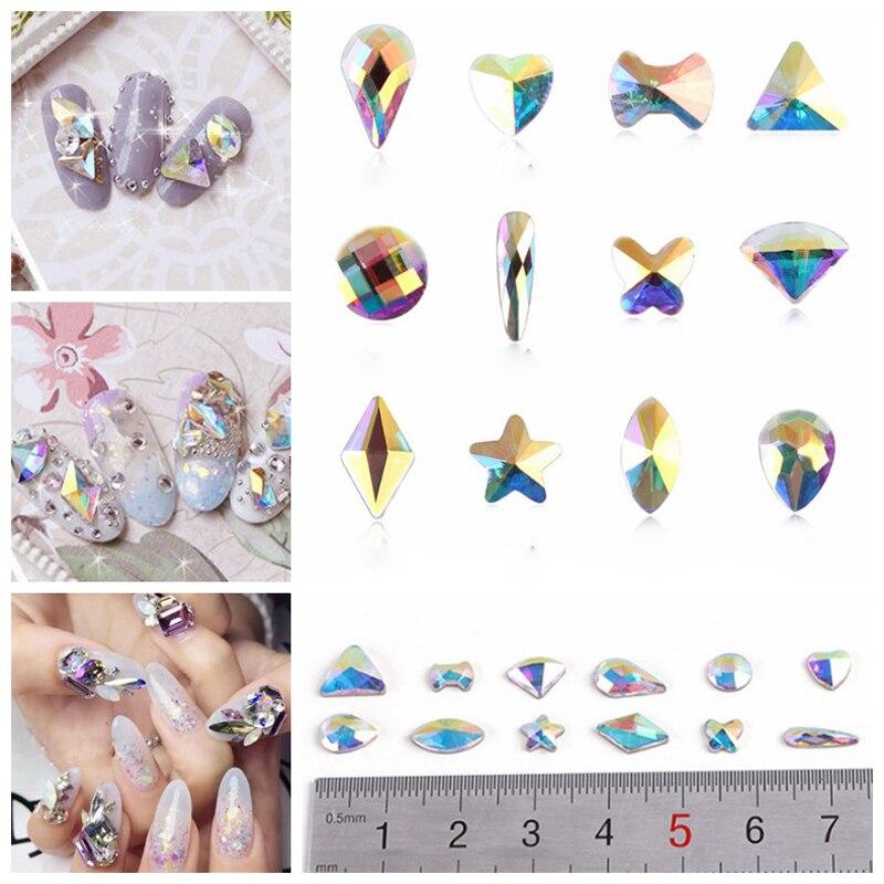 YANRUO Mix Crystal AB Glitter Crystal 3d DIY Nail Art Flat Back - Arte de uñas - foto 4