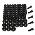 75 Pcs/Set Black Bolt Toppers Cover Caps Kit For Harley /Davidson /Dyna /Softail Twin Cam 75pc
