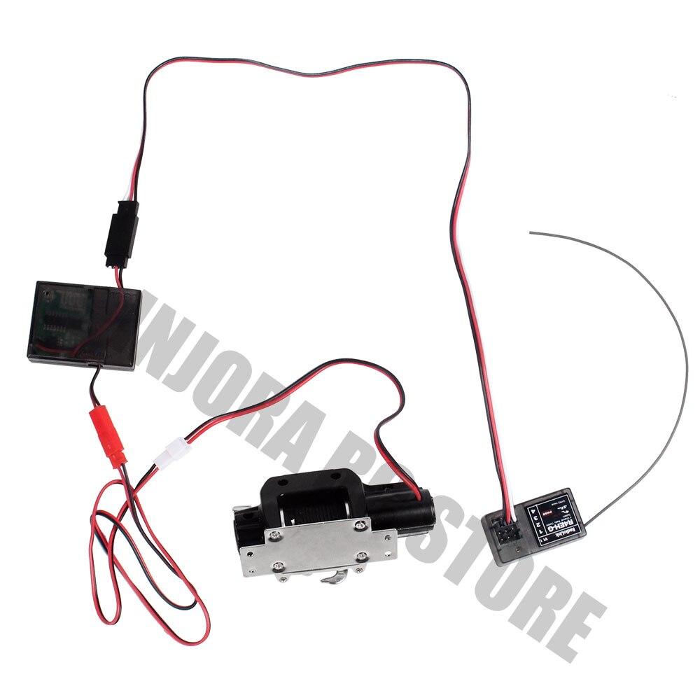 Image 5 - Rc カー電動ウインチワイヤレスリモートコントロール 1/10 RC クローラ場合は受信トラクサス TRX4 軸 SCX10 90046 D90 タミヤ CC01パーツ & アクセサリー   -