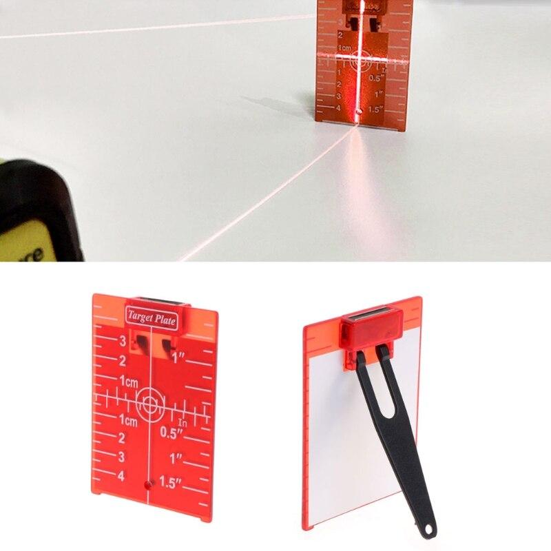 Новинка, модель высокого качества Магнитная красный мишень для роторный Крест линии лазерный уровень дальномер ...