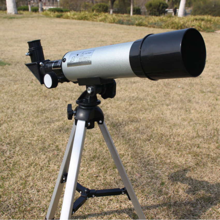 90 Times Outdoor Refractive Astronomical Telescope with Portable Tripod HD Monocular Spotting Scope 360/50mm Telescopio grus guide scope b212 90 mm ring each pair of two astronomical telescope guide scope ring system