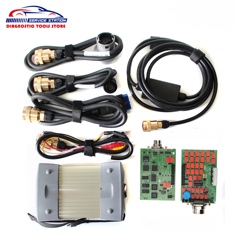 Best Chip with NEC Relays MB Star C3 Connect MB C3 Supports 12V & 24V Cars and Trucks Auto Diagnostic Scanner