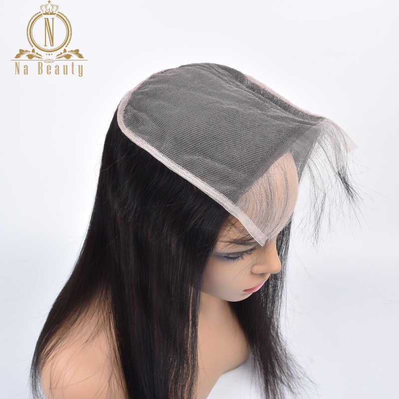 6x6 Transparant Vetersluiting Straight Grote Zwitserse Kant Sluiting Pre Geplukt Baby Braziliaanse Remy Human Hair Zwart Voor vrouwen Nabeauty