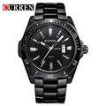 2015 moda Curren marca diseño hombres de negocios reloj masculino militar ocasional de acero inoxidable de lujo de pulsera de cuarzo reloj del deporte de regalos