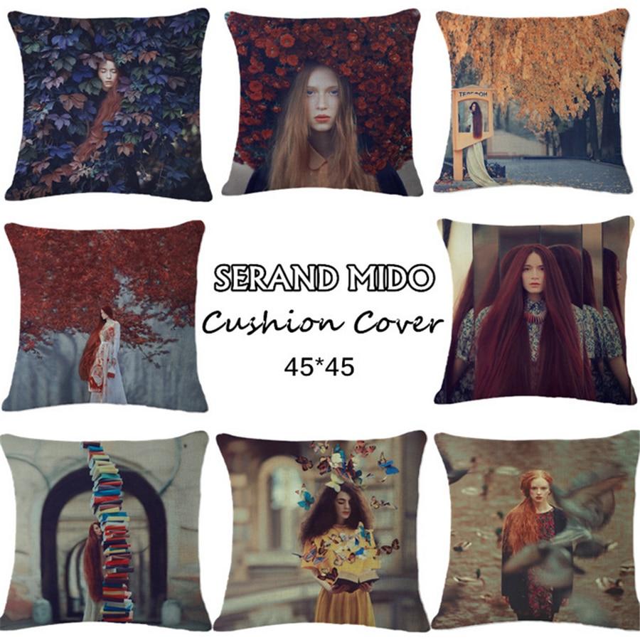 Plain American Europe Style Creative Girl Sofa Decorative Throw Pillow Case Office Chair Cushion Cover Home Decor Pillowcase e23