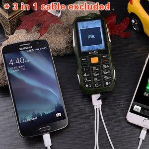 Image 3 - Большая батарея, большая мощность, прочный телефон, громкий звук, внешний аккумулятор, фонарик, большая русская клавиша, Bluetooth, быстрый набор, сотовый телефон Gofly