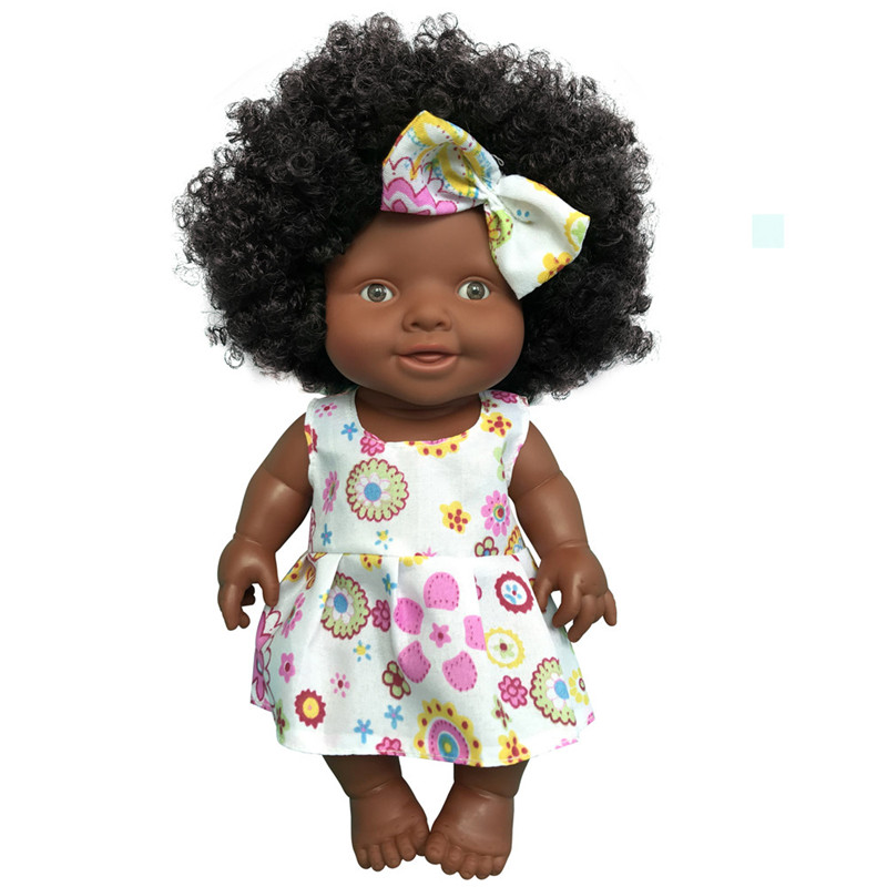 Hot Sale 10 Inch Baby Movable Joint African Doll Toy For Girls Black Doll Best Gift Toy Christmas Gift Fashion Doll