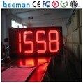 Leeman Hot selling humidity temperature 7 segment led clock display p6 smd led module long time