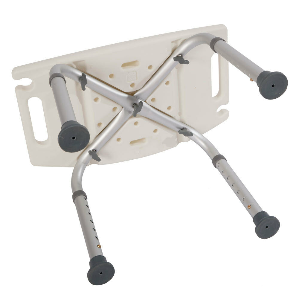 Elderly Adjustable Medical Bath Tub Shower Chair Bench Stool Seat 7 Height 4