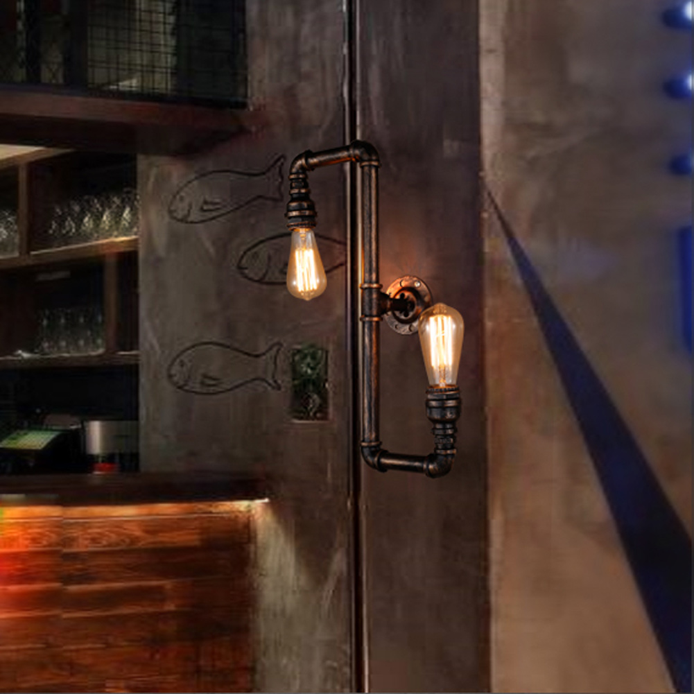 Loft Vintage Wall Lamps American Industrial Wall Light E26/E27 Edison Wall Sconce Bedside Fixtures Home Decoration Lighting elikor эпсилон 50 медный антик золото