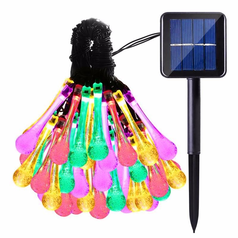 LED luces solar forma de gota  (1)