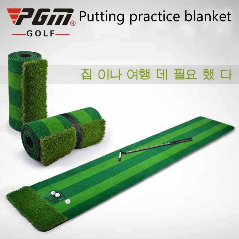 PGM New GOLF Indoor 0.58*3m putting green Golf Putter Practice Track Green mat caiton portable golf putter set kit with ball hole cup for travel indoor golf putting practice top grade redwood golf gift